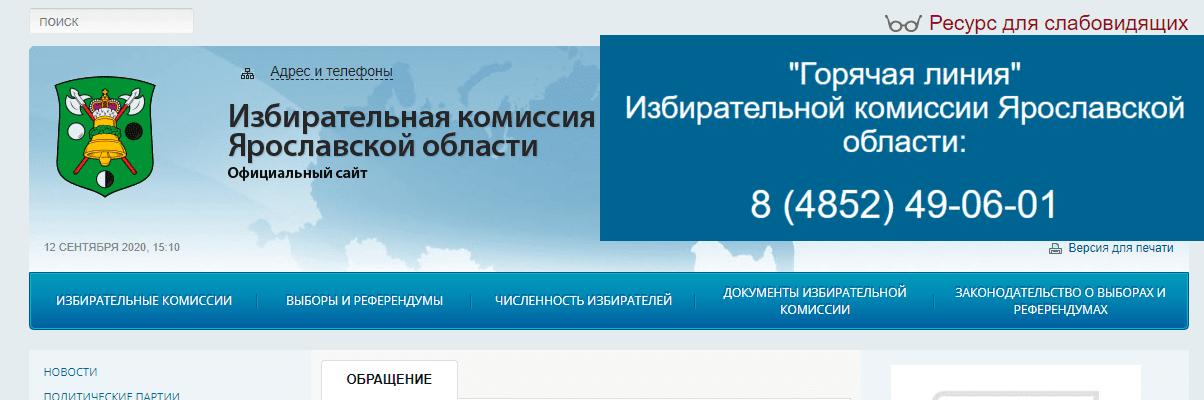 Официальный сайт Ярославской избирательной комиссии