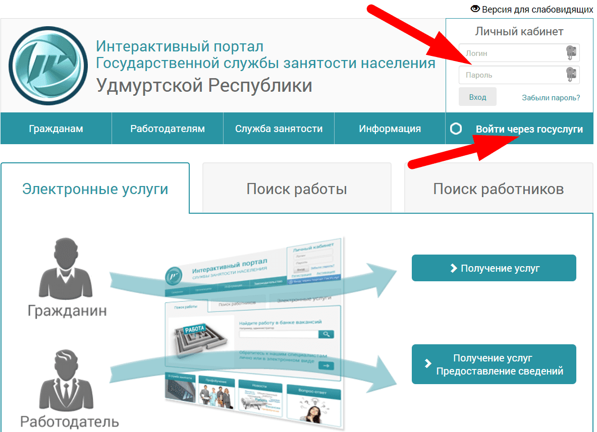 Сайт министерства труда Удмуртской республики