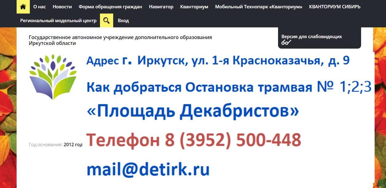 Детирк38.рф