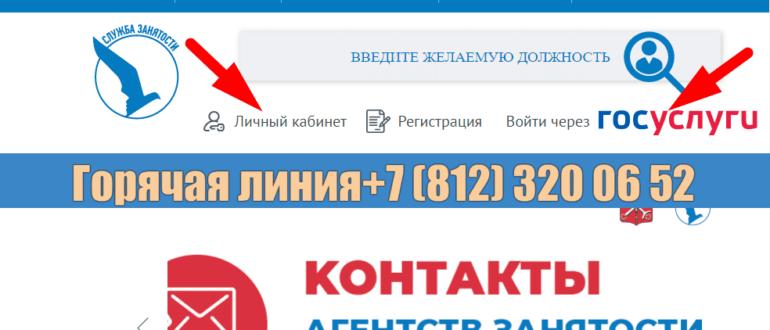 Сайт службы занятости города Санкт Петербурга R21 spb