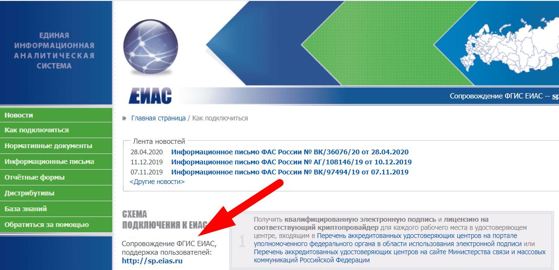 Официальный сайт и поддержка ФГИС ЕИАС