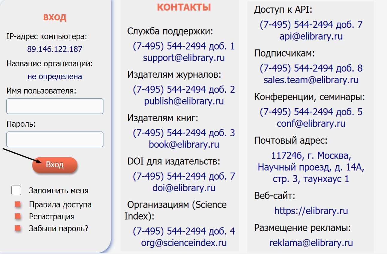 Сайт электронной библиотеки «eLIBRARY.RU»