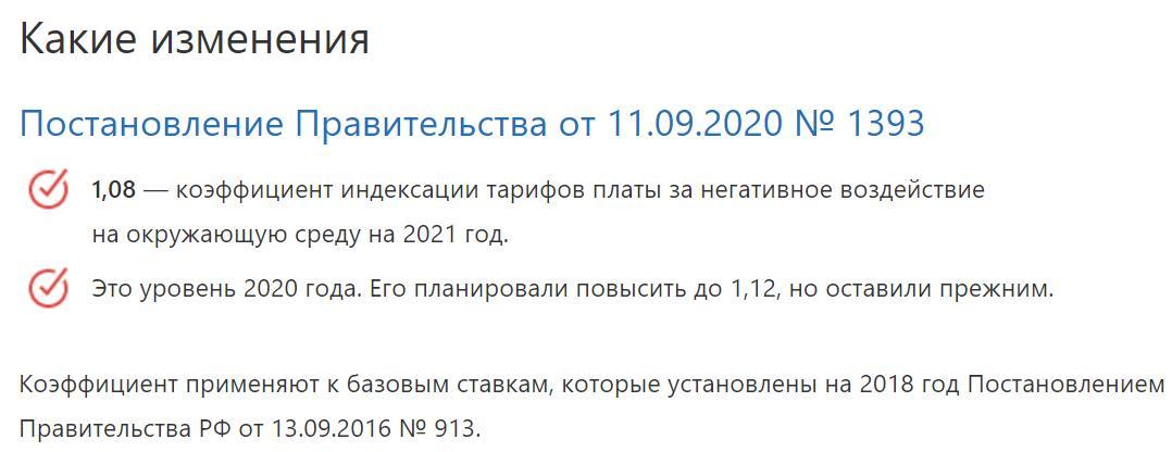 Плата за НВОС 2021