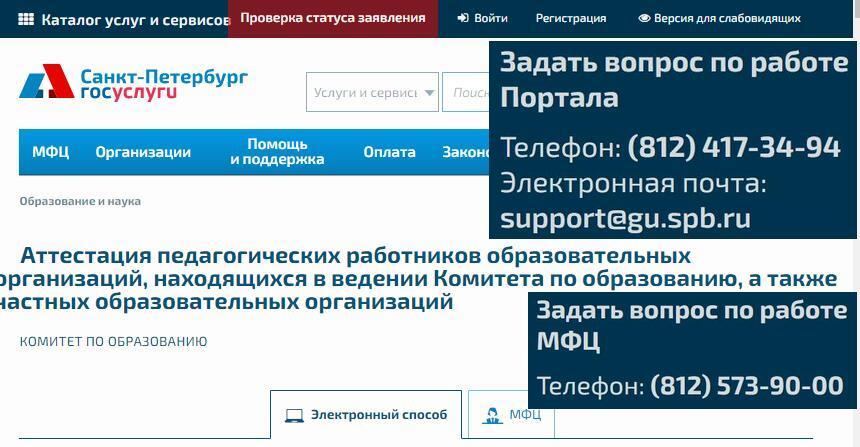 ЛК Аттестация Педагогических работников в СПБ