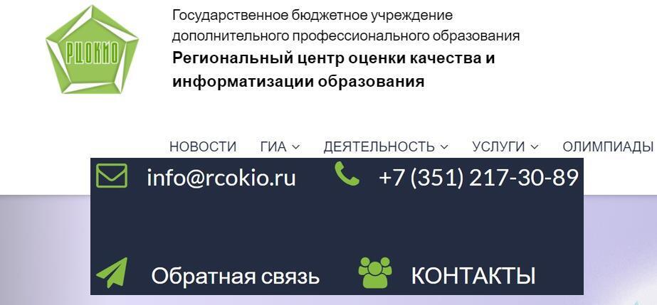 Сайт Челябинского РЦОКИО