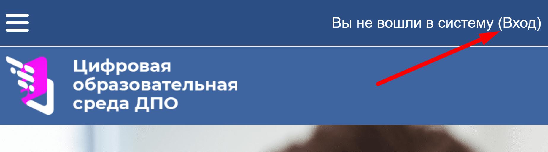 Официальный сайт «Цифровая среда ДПО»