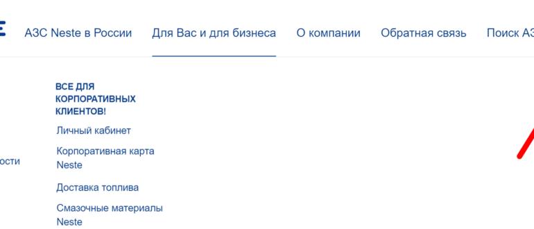 Официальный сайт компании «Несте»