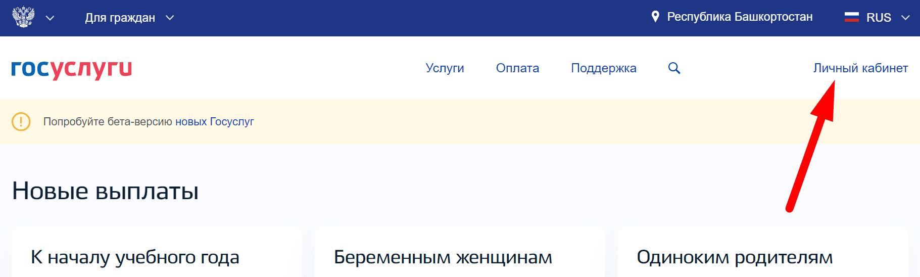 Ссылка на официальный сайт «ГосУслуги Уфа»
